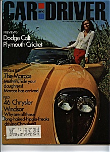 Car and Driver - December 1970 (Image1)
