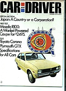 Car and Driver - November 1970 (Image1)