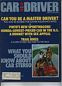 Car and Driver - April 1972 (Image1)
