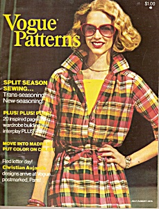 Vogue patterns - JulyAugust 1976 (Image1)