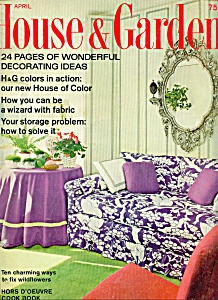 House & Garden magazine - April 1968 (Image1)