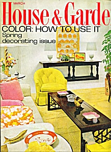 House & Garden magazine -  March 1968 (Image1)