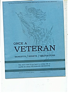 Once A Veteran Booklet - February 4, 1965