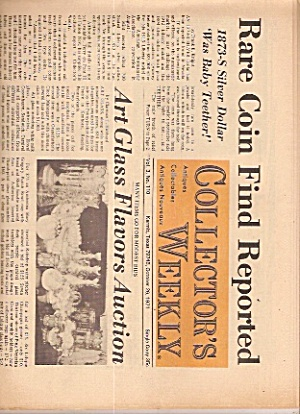 Collector's weekly newspaper -  October 26, 1971 (Image1)