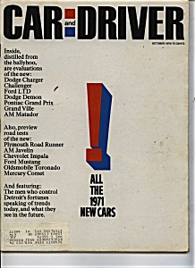 Car and Driver - October 1970 (Image1)