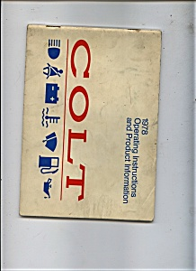 1978 Colt Opeating instructions (Image1)