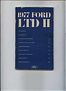 1977 Ford LTD II Manual (Image1)