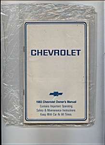 Chevrolet - 1983 Owners Manual (Image1)