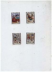 The Gambia  - 4 stamps of Mickey Mouse characters (Image1)