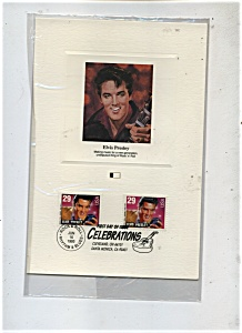 First day of Issue - Elvis Presley stamp. (Image1)