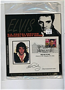 Elvis Official first day stamp issue (Image1)