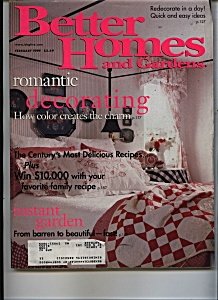 Better Homes And Gardens - February 1999