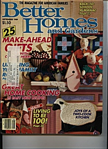 Better Homes  & Gardens- September 1989 (Image1)