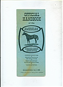 Official; Handbook of the American Quarter Horse associ (Image1)