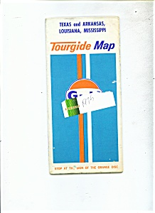 Tourguide Map Of Texas, Arkansas, Louisiana, Missippi