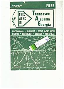 Tennessee, Alabama, Georgia brochure - 1965 (Image1)