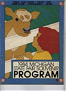 Michigan State Fair Program - 1984 (Image1)