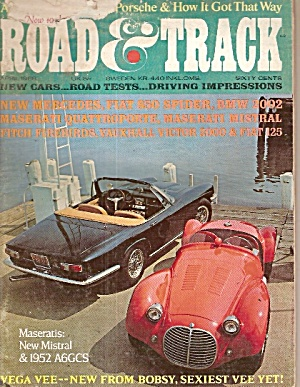 Road & Track -    April 1968 (Image1)