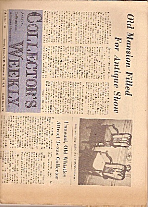 Collector's weekly newspaper -  Sept. 28, 1971 (Image1)