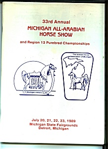 Michigan All-Arabian Horse show - July 1989 (Image1)