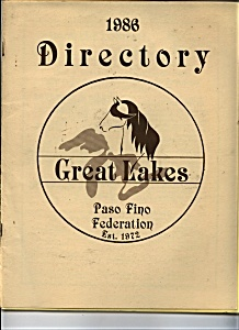Directory Great Lakes Paso Fino Federation - 1986