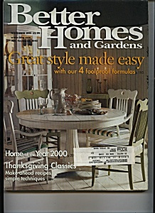 Better Homes and Gardens - November 1999 (Image1)