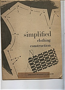 Simplified clothing construction - Issued March 1959 (Image1)