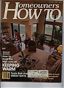 Homeowners HOW TO  - Nov/Dec 1980 (Image1)