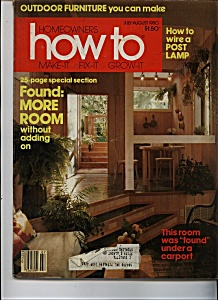 Homeowners How to - July-August 1980 (Image1)