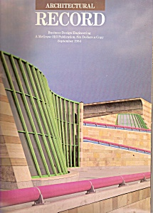 Architectural Record -  September 1984 (Image1)