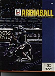 Arenaball - game program - May 28, 1993 (Image1)