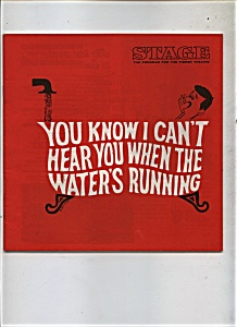 1969 Can't Hear When Water's Running THEATRE Program AD (Image1)
