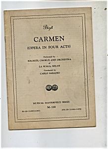 Bizet Carmen  Opera Program - (Image1)
