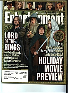 Entertainment  - November 16, 2001 (Image1)