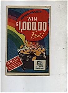 Win $1,000.00 Free -    1937 (Image1)