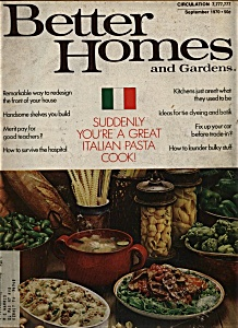 Better Homes and Gardens - September `1970 (Image1)