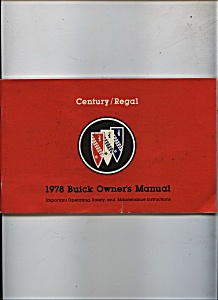 1978 Buick Owner's Manual  Century/Regal (Image1)