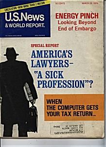 U. S. News & World Report - March 25, 1974 (Image1)
