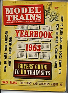 Model Trains Yearbook 1963 Magazine