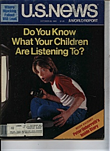 U. S. News & World Report magazine- October  28, 1985 (Image1)