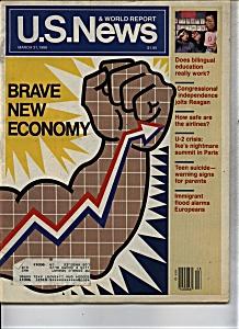 U. S. News  & World report magazine- March 31, 1986 (Image1)