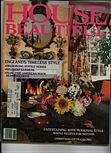 House Beautiful Magazine - November 1982