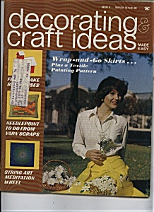 Decorating craft ideas - March 1975 (Image1)