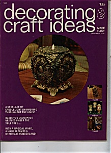 Decorating Craft Ideas - December 1970 (Image1)