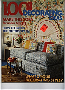 1,001 Decorating Ideas magazine - copyright 1975 (Image1)