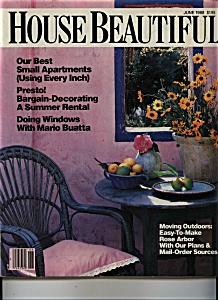 House Beautiful Magazine - June 1988