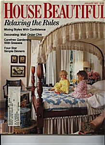 House Beautiful Magazine - January 1987