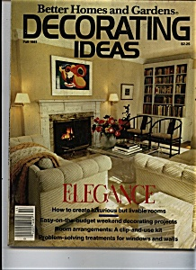 Better Homes & Gardens - Decorating Ideas - Fall 1981 (Image1)