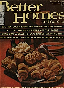 Better Homes And Gardens Magazine - October 1964