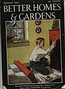 Better Homes & Gardens magazine - January 1932 (Image1)
